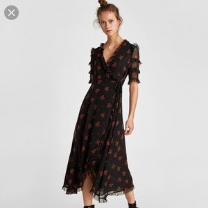 Floral Zara Wrap Dress